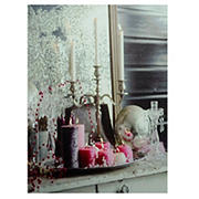 Northlight Regal Romance Candleabra Christmas Canvas Wall Art - LED Lighted