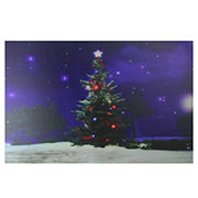 Northlight Fiber-Optic and Color-Changing Christmas Tree Canvas Wall Art - LED Lighted
