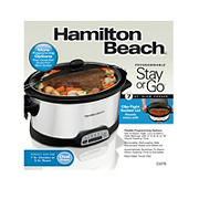 Stay or Go Programmable 7 Qt. Slow Cooker - Silver