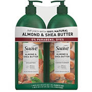 Suave Professionals Moisturizing Shampoo and Conditioner Almond and Shea Butter, 2 pk.
