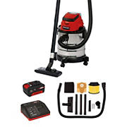 Einhell TC-VC Power X-Change 18V Cordless 4.8-Gal, 3-in-1 Wet and Dry Shop/Vac/Blower with Powerful 1.2-PSIG Suction Power