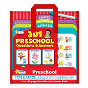 Active Minds - Preschool Tote & Trace 3 Subject Write-and-Erase Wipe Clean Set