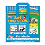 Active Minds - First Grade Tote & Trace - 3 Subject Write-and-Erase Wipe Clean Board Set