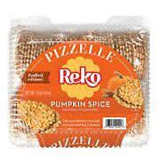 Reko Pumpkin Spice Authentic Italian Styled Waffle Cookie, 16 oz.