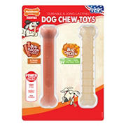 Nylabone Big Chicken/Big Bacon Long-Lasting Chew Toy, 2 pk.