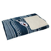 Biddeford Blankets Micro Plush Heated Throw with Digital Controller - Gray/White Buffalo Check