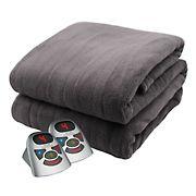 Biddeford Blankets Microplush Heated-Blanket With Digital Controller - Gray