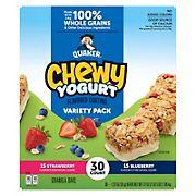 Quaker Chewy Yogurt Granola Bars Variety Pack, 30 ct.