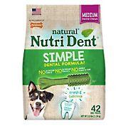 Nutri Dent Simple Medium Dental Chews, 42 ct.