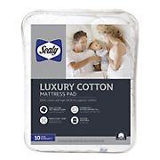 Sealy Luxury 100% Cotton King Size Mattress Pad