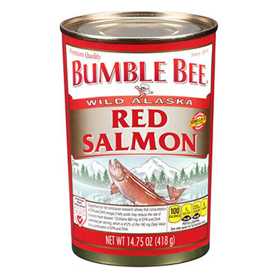 Bumble Bee Wild Alaska Red Salmon, 14.75 oz.