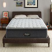 Beautyrest BRS900 Medium Pillow-Top Twin XL Size Mattress - Silver