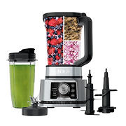 Ninja Foodi Power Blender And Processor System with Nutrient Extractor 3-in-1 Blender, 1200W, 5 Auto-iQ - Black