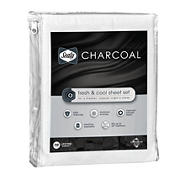 Sealy Queen Size Charcoal Sheets - White