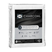 Sealy King Size Charcoal Sheets - White