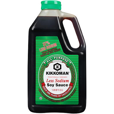 Kikkoman Naturally Brewed Less Sodium Soy Sauce, 40 oz.