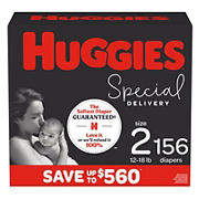 Huggies Special Delivery Hypoallergenic Baby Diapers, Size 2, 156 Ct