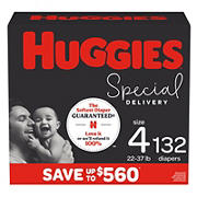 Huggies Special Delivery Hypoallergenic Baby Diapers, Size 4, 132 Ct