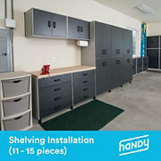 Handy Shelving Assembly and Installation Service, 11-15 pieces