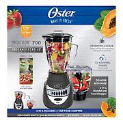 Oster Precise Blend 700 Plus Food Chopper Glass Jar - Metallic Gray