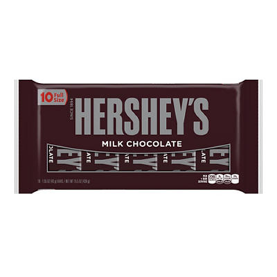 Hershey's Milk Chocolate Bars, 10 ct.
