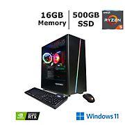 CyberPowerPC Gamer Master GMA4000BJ Gaming Desktop, AMD Ryzen 5 Processor, 16GB Memory, 500GB SSD with NVIDIA GeForce RTX 2060