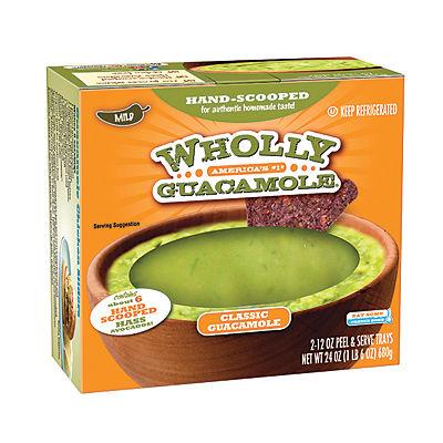 Wholly Guacamole Classic Guacamole Tray, 2 pk./12 oz.