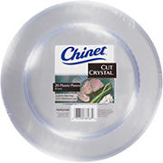 "Chinet 10"" Cut Crystal Plates, 20 ct."