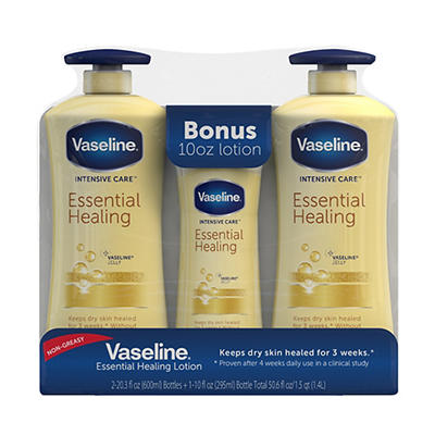 Vaseline Intensive Care Essential Healing Body Lotion, 2 pk./20.3 oz.