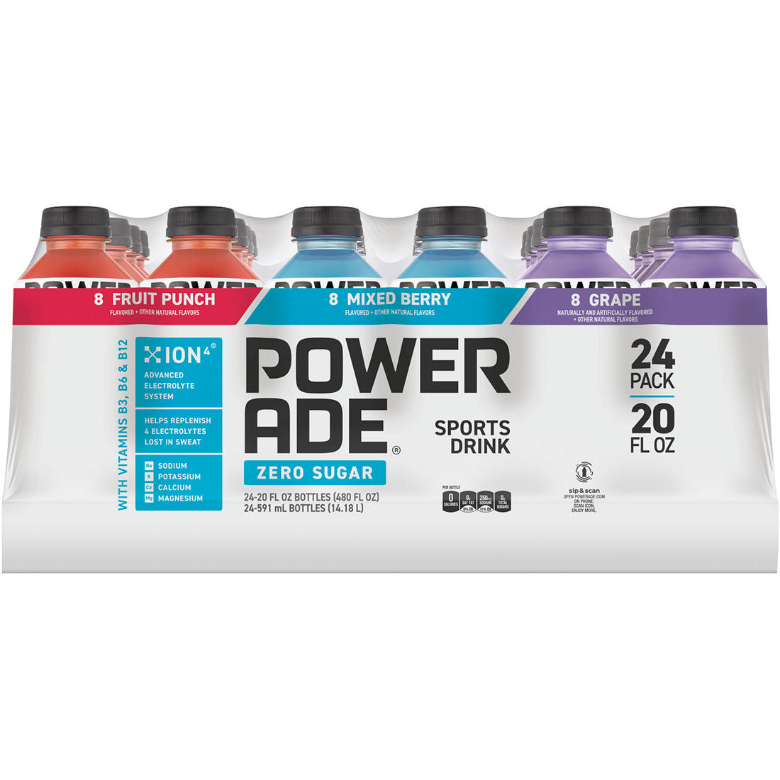 picture relating to Printable Powerade Coupons identified as Powerade Zero Calorie Sporting activities Consume, 24 ct./20 oz.