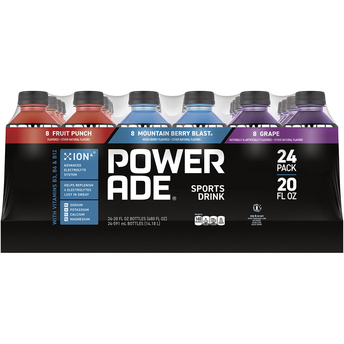 graphic about Printable Powerade Coupons identified as Powerade Range Pack, 24 ct./20 oz.