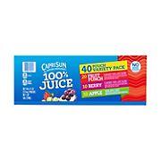 Capri Sun 100% Juice Variety Pack, 40 ct.
