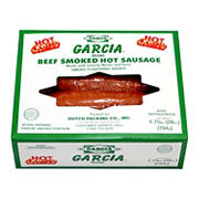 Garcia Beef Smoked Hot Sausage, 1.75 lbs.