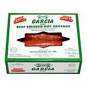 Garcia Beef Smoked Hot Sausage, 1.75 lbs.