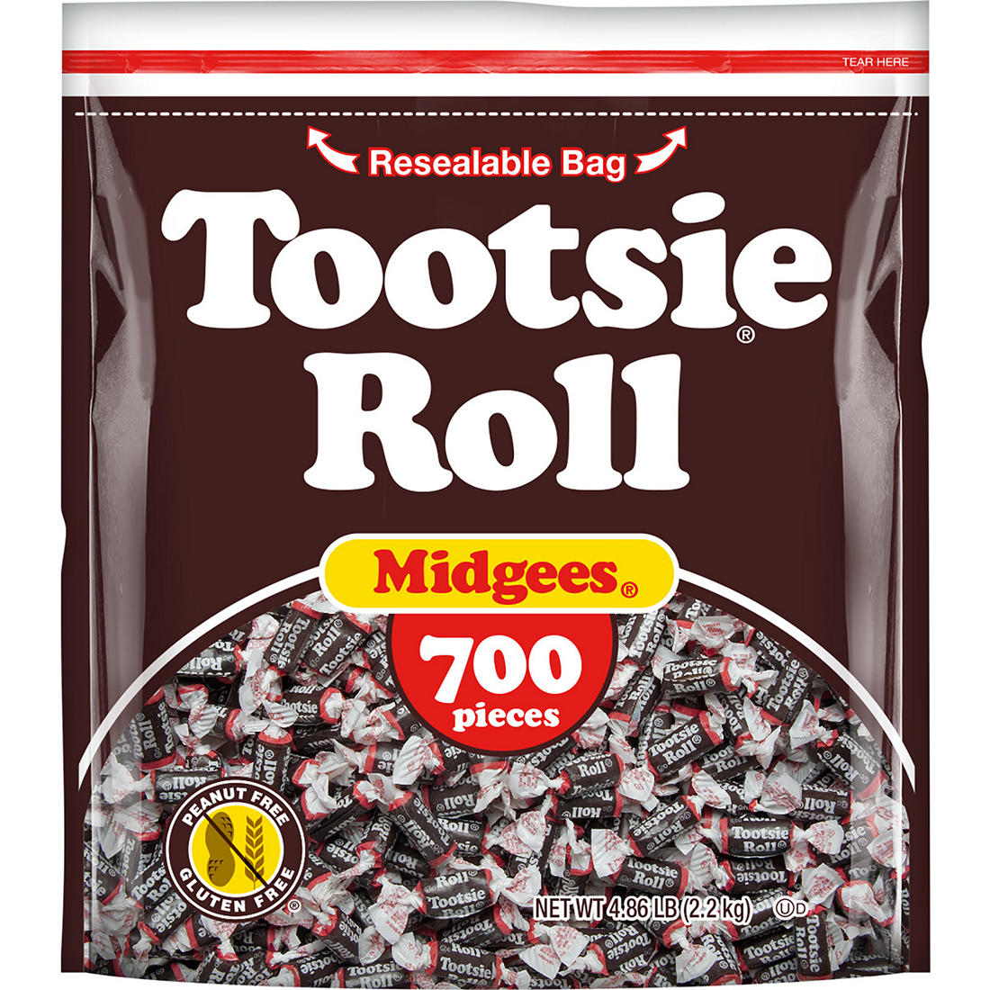 Tootsie Roll Midgees Candy, 700 ct