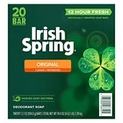 Irish Spring Original, Deodorant Bar Soap, 20 ct./3.7 oz.
