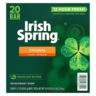 Irish Spring Original Bar Soap, 20 ct./3.75 oz.