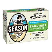 Season Brand Skinless and Boneless Imported Sardines in Olive Oil, 5 pk./3.7 oz.