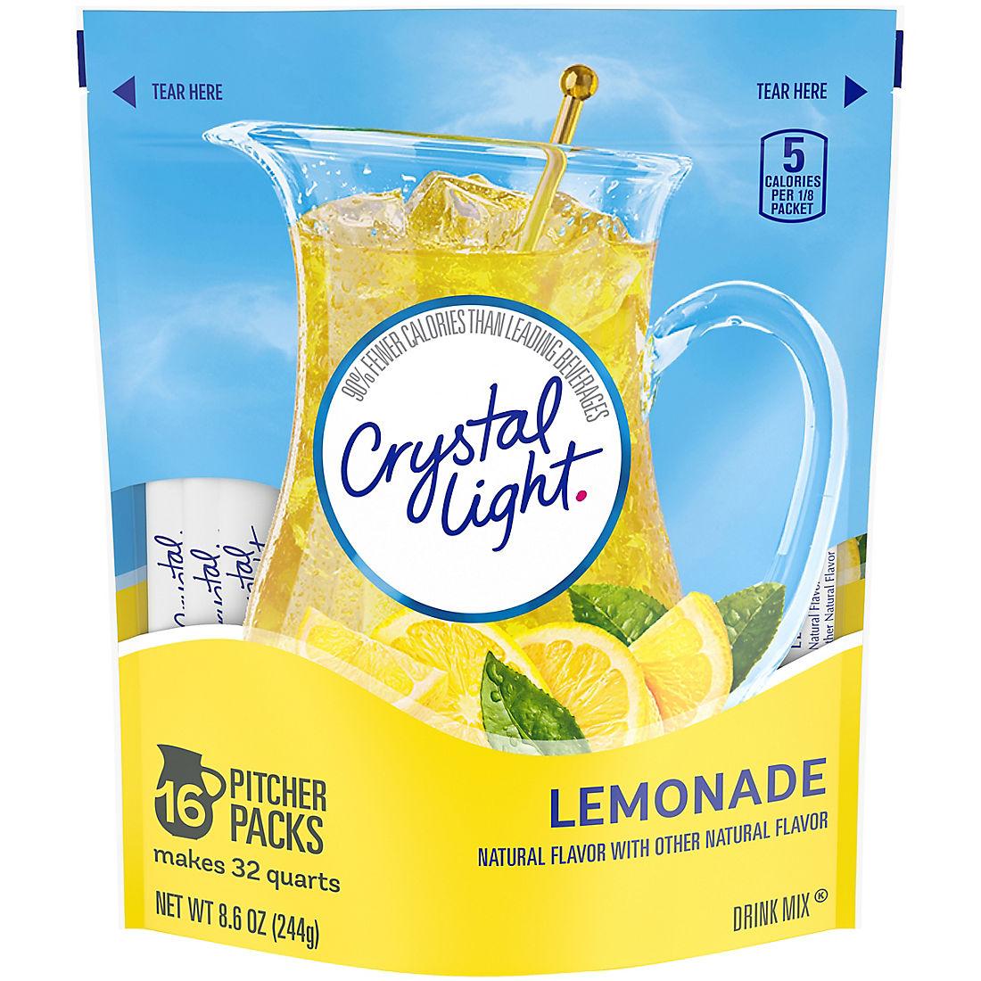 Crystal Light Lemonade Sticks, 16 ct /32 qt
