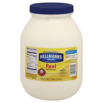 Hellmann's Real Mayonnaise, 128 oz.