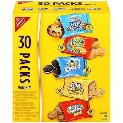 Nabisco Cookies and Crackers Variety Pack, 30 pk./1 oz.