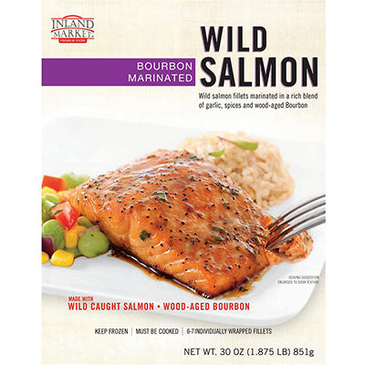 Inland Market Bourbon Marinated Wild Salmon, 30 oz.