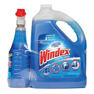 Windex Trigger+ Plus Glass & Surface Cleaner, 128 oz.