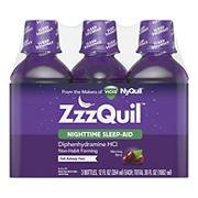 ZzzQuil Nighttime Sleep-Aid Liquid Warming Berry Flavor, 36 oz.