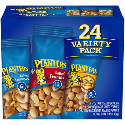 Planters Individual Variety Pack, 24 pk.