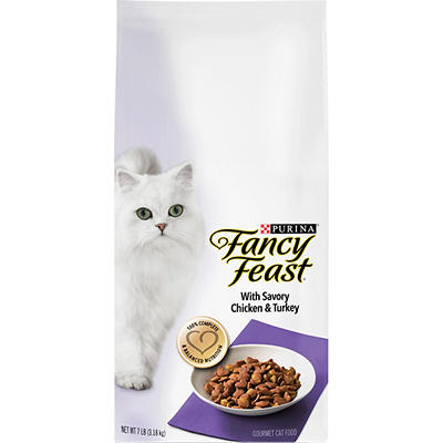 Purina Fancy Feast With Savory Chicken & Turkey Dry Cat Food, 7 lbs.