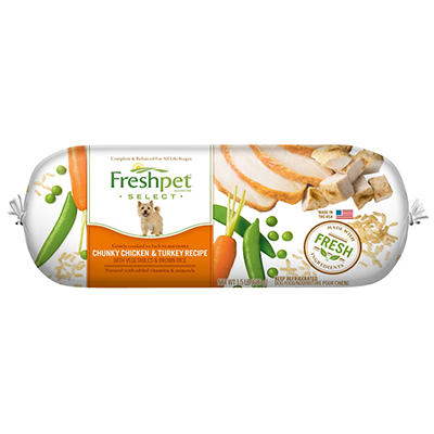 Freshpet Select Chunky Chicken and Turkey with Vegetables and Brown Ri