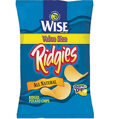 Wise Ridgies Potato Chips, 16 oz.