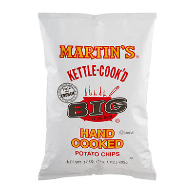 Martin's Original Kettle-Cook'D Potato Chips, 17 oz.