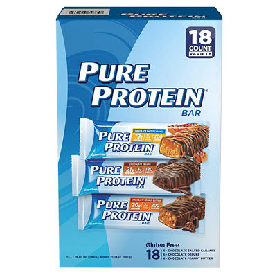 Pure Protein Bars Variety Pack, 18 ct./1.76 oz.